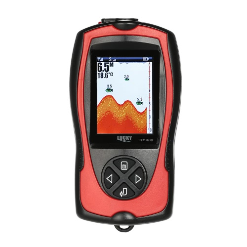 LUCKY Wired & Wireless Sonar Fish Finder 100 м / 328 футов Двойная частота