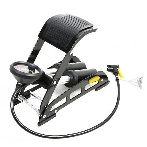 SAHOO Bicicleta de aleación de aluminio Bicicleta de MTB Bicicleta de baloncesto Bicicleta de pie de aire Bomba de aire de alta presión portátil No-Slip Bike bomba de aire inflable con manómetro preciso
