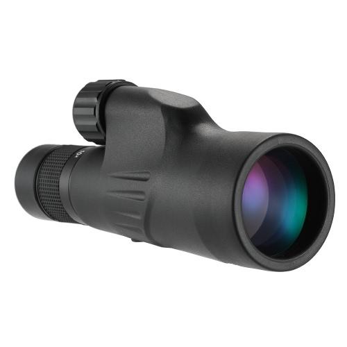 Eyeskey 10-30x50 Zoom Monocular Potente Multi-recubierto BAK4 Prism Impermeable Telescopio Monocular Spotting Alcance para el deporte al aire libre Senderismo Mochilero Excursiones Birdwatching Conciertos