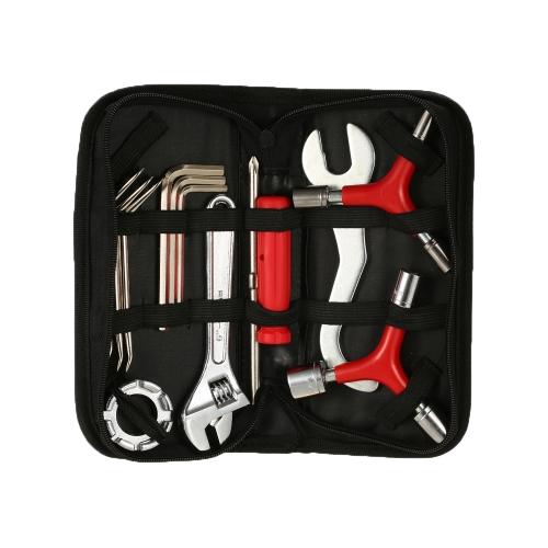 12 STÜCKE Multifunktions Fahrrad Wartung Werkzeuge Bike Repair Tool Kit