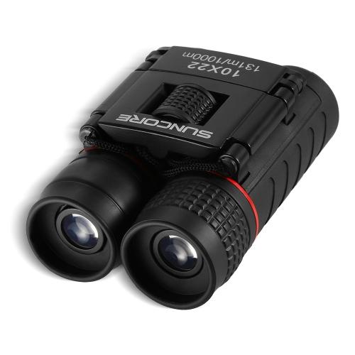Mini Pocket Folding 10X22 Высококачественный бинокулярный телескоп Наблюдение за птицами Дикая природа Охота на лодку с линзой Ткань для переноски