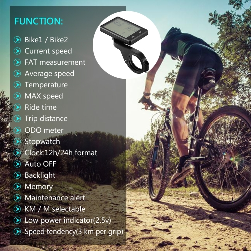 Image of YS Multi Functions Bike Computer Wired / Wireless Bicycle Cycling Computer Speedometer Odometer with Backlight