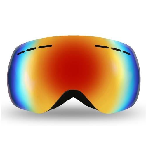 Lixada Occhiali da vista senza telaio invernale Snow Sport Snowboard Occhiali sportivi Protezione UV anti-nebbia Protezione UV doppio sferico per motoslitta Pattinaggio sci