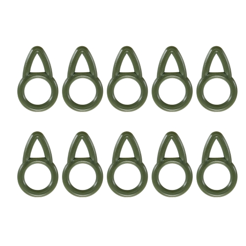100PCS Enduring Fishing Run Anelli ABS flessibili Run Anelli Lot Carp Fishing Rigs Accessori Tackle Supplies