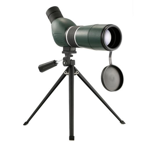 20-60x60 Escopo de mancha direta / angular com tripé Portáteis de viagem telescópio monocular com tripé estojo de transporte para observação de pássaros Camping Backpacking