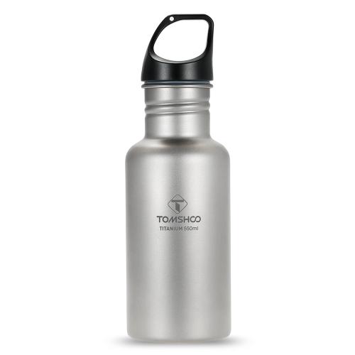 TOMSHOO 550ml Botella de agua de titanio completa