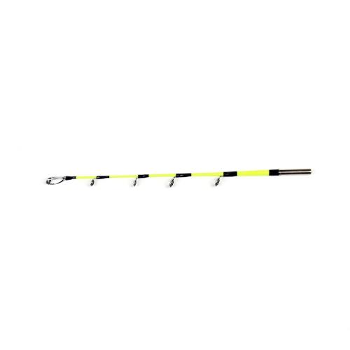 2 Abschnitte Eis Angelrute Leichte Angelrute Pole Portable Winter Kurze Angelrute