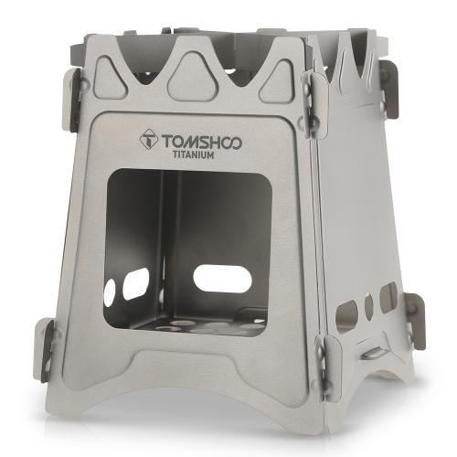 Estufa portátil plegable de titanio TOMSHOO