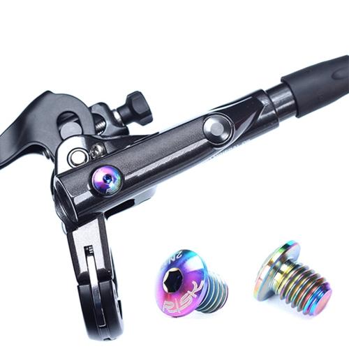 RIESGO 2 UNIDS / 4 UNIDS TC4 Titanium Bicicleta Cilindro De Freno Hidráulico Pernos Tornillo Del Cilindro Del Freno De La Bicicleta