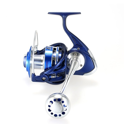 12+1BB Ball Bearing 4.7:1 Models 8000 Super Smooth Spinning Fishing Reel Full Metal Body and Metal Spool Right/Left Interchangeabl thumbnail