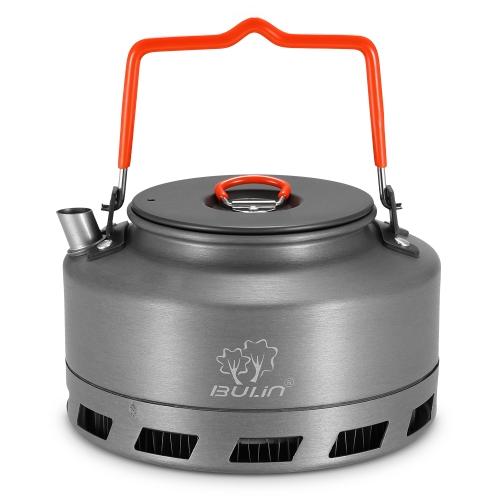 1.1L Tetera portátil olla de agua olla Cafetera interior silbando Aleación de aluminio tetera tetera acampar al aire libre que camina la tetera de picnic