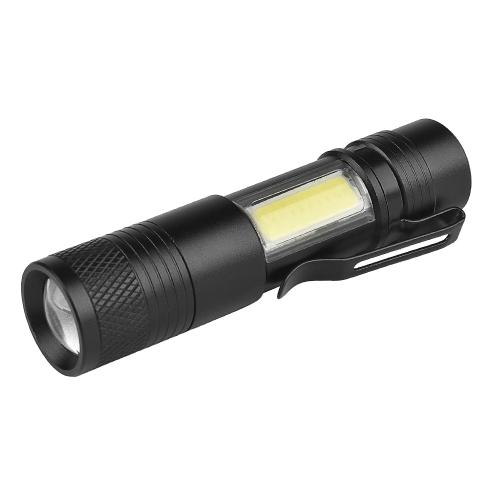 Mini LED Handheld Taschenlampe Stift Licht Outdoor Jagd Zoom Blitzlicht Taschenlampe 3 Modi