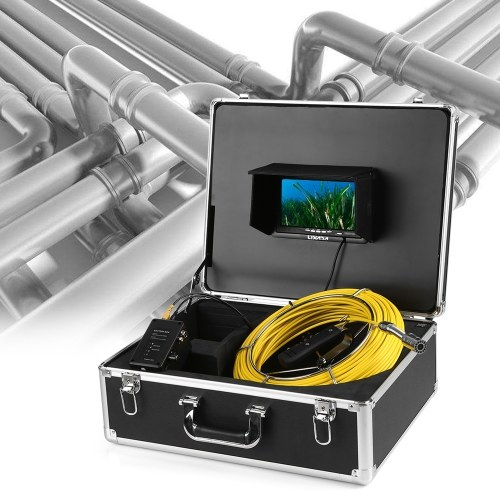 Lixada 50M Drain Pipe Sewer Inspection Camera
