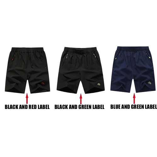 Men Running Fitness Sports Quick Dry Pants Pure Color Loose Breathable Shorts with Pockets