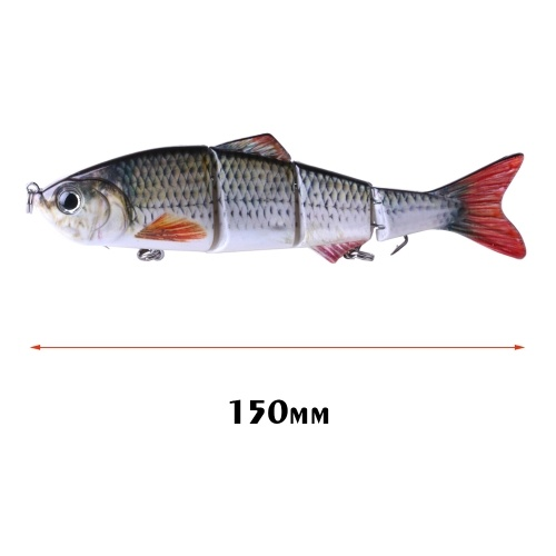 HENG JIA Artificial Bait for Fishing Wobbler Jointed Eel Fish Lure Hard Slow Sink Swimbait Image