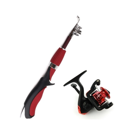 HENG JIA Mini canna da pesca breve peso leggero esca Spincast principiante canna da pesca pesca portatile con scatola Tackle