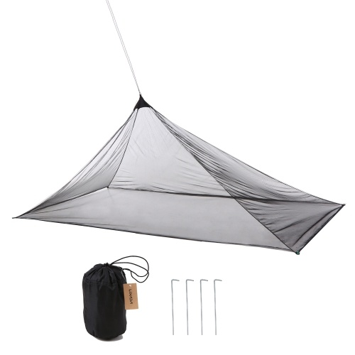 Lixada Ultralight Mosquito Repellent Mesh Net Outdoor Insect Bugs Shelter Pyramid Mesh Net