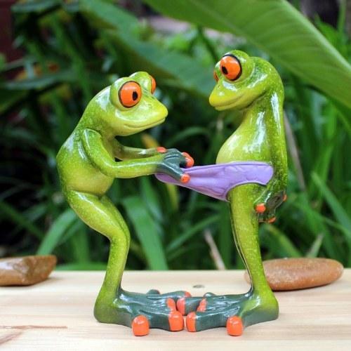 3D Творческий статус Смешной Интересный орнамент Украшение Зеленая фигурка