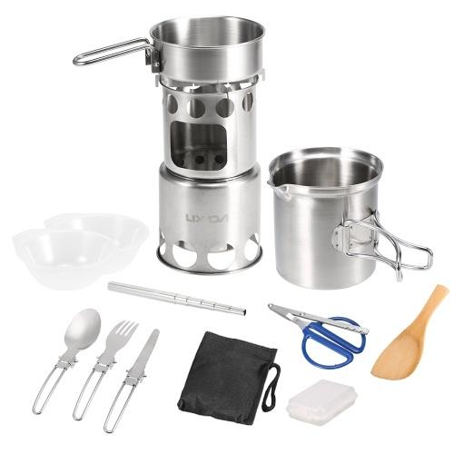 12Pcs Camping Cookware Mess Kit