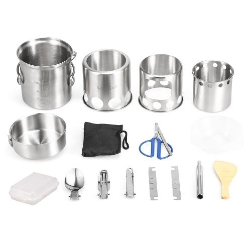 12Pcs Набор посуды для кемпинга