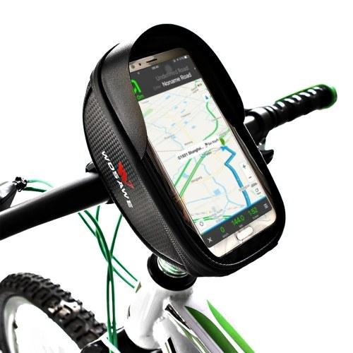 Bolsa para estrutura frontal para telefone de bicicleta Bolsa impermeável para bicicleta superior tubo para ciclismo bolsa suporte para telefone móvel de 6,5 polegadas