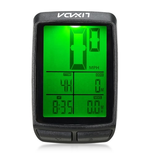 Lixada Wireless Bike Cycling Computer Bicycle Speedometer Odometer with LED Backlight Image