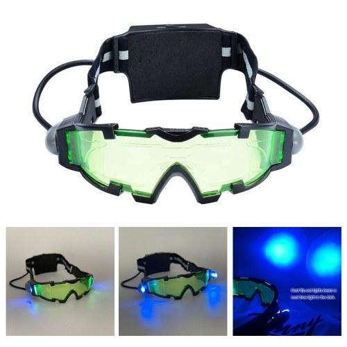 Occhiali da notte regolabili per bambini Occhiali da sole a LED estraibili