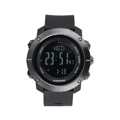SUNROAD Multifunctional Outdoor Smart Digital Sports Wrist Watch  Compass Altimeter Barometer Military Watch 5ATM Water Resistant