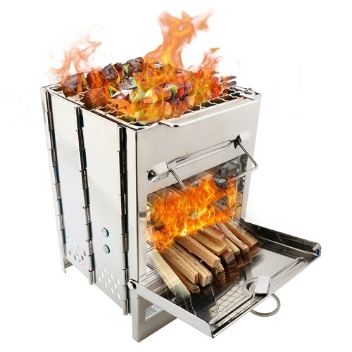 Складная дровяная печь из нержавеющей стали