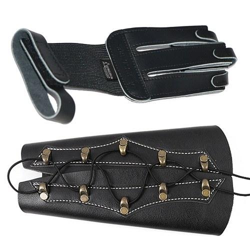 1PCS Archery Protector 3 Finger Tab Handschuh mit Handschlaufe
