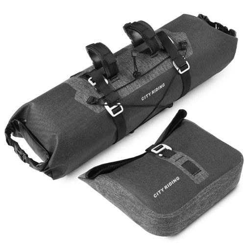 Waterproof 2 in 1 Cycling Handlebar Bag Set Large Capacity MTB Road Bike Bicycle Front Bag Pouch Pannier Image