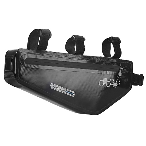 Bicycle Triangle Bag Bike Frame Front Tube Bag Waterproof Cycling Bike Tool Storage Bag Pannier Pouch Image