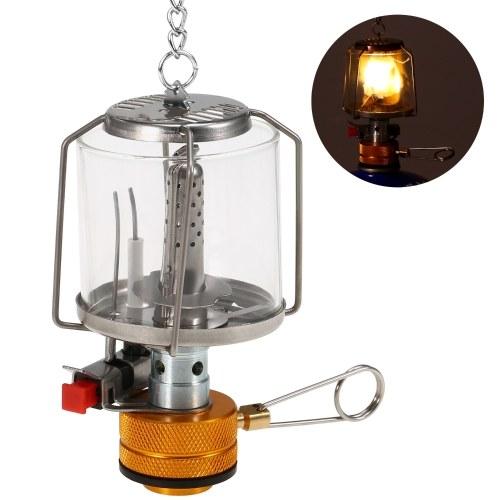 Lanterna de gás portátil para acampamento ao ar livre Piezo Ignição Mini lâmpada para barraca de gás