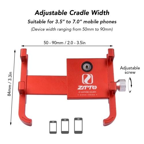 Bike Phone Mount Universal Adjustable Bicycle Cell Phone GPS Mount Holder -Z83