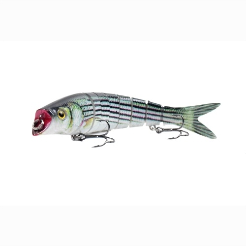 5.5in / 0.76oz  Bionic Multi Jointed Hard Bait S Swimming Action Fishing Lure 8 Segment Sinking Fishing Lure VIB Bait Crankbait 3D Eyes Lifelike Artificial Fishing Lures Hook with Treble Hooks Tackle Image