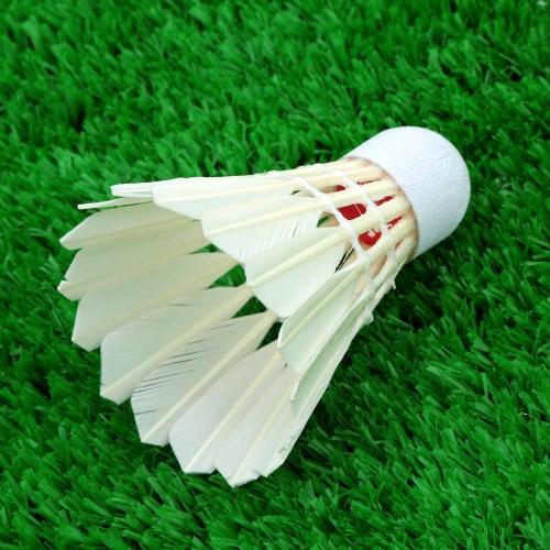 12pz Esercizio Gara Piuma dell'Oca Badminton Volani Accessori per Sport all'Aperto