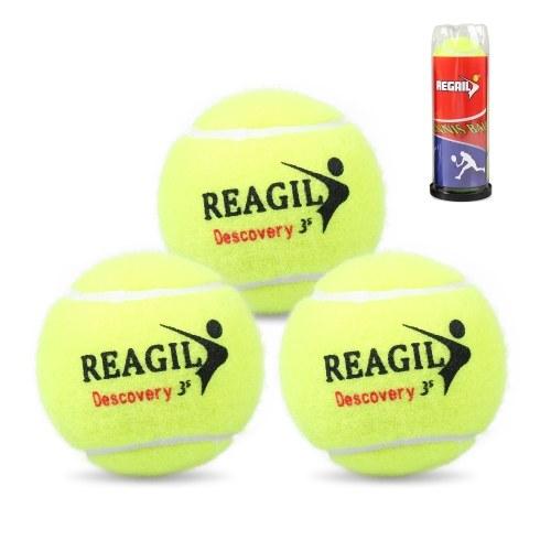 Набор из 3 теннисных мячей для тренировок в помещении и на открытом воздухе