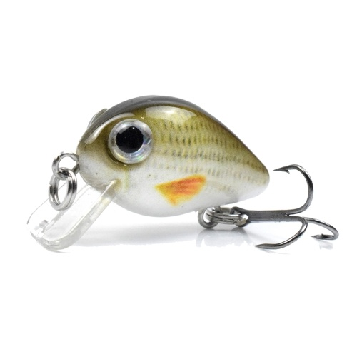 1.1 in / 0.06 oz Sinking Fishing Lures Hard Body Lures with Treble Hook Life-Like Swimbait Fishing Bait 3D Eyes Artificial Baits Crankbait Fishing Tackle thumbnail