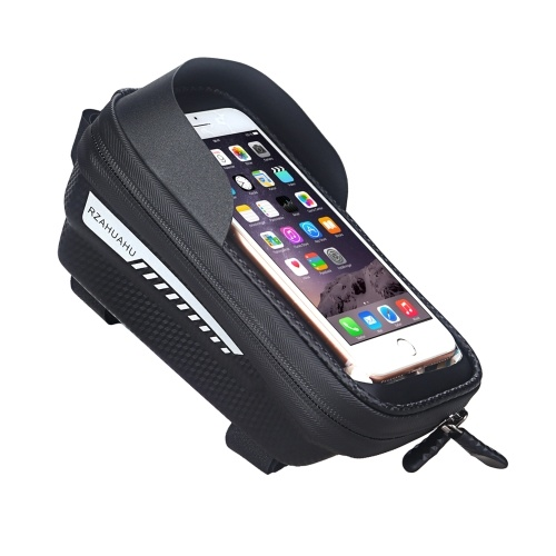 Waterproof Bicycle Phone Mount Bags Front Frame Top Tube Bag with Touchscreen Phone Holder Case Cycling Bike Tool Storage Bag Pack