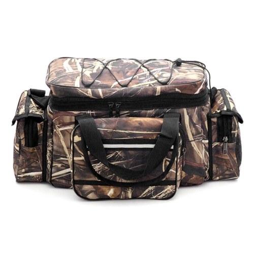 Bolsa de pesca de grande capacidade para pesca à prova d'água Bolsa de armazenamento para viagem ao ar livre Pacote de bolsa de ombro de caça