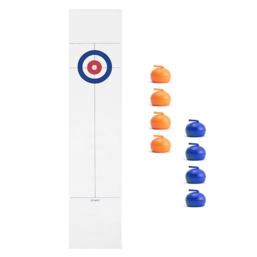 Tabletop Curling Game with 8 Pucks Stones for Kids and Adults Family Game Curling Board Game Gift