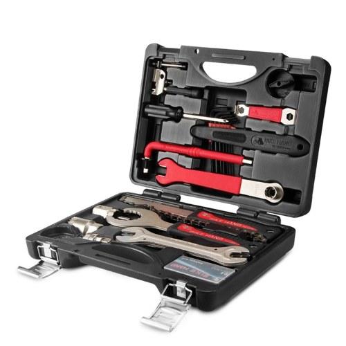 Kit de ferramentas de reparo profissional de bicicletas 18 em 1 com estojo de armazenamento Ferramentas multifuncionais de reparo de bicicletas