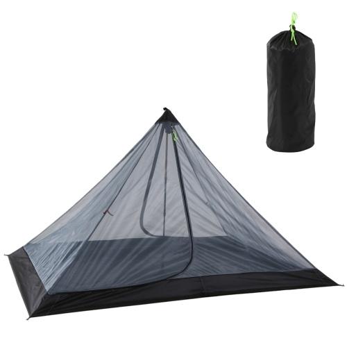 Tenda de acampamento ao ar livre Tenda de rede ultraleve com rede repelente de insetos Tenda de acampamento portátil dobrável de 1 a 2 pessoas