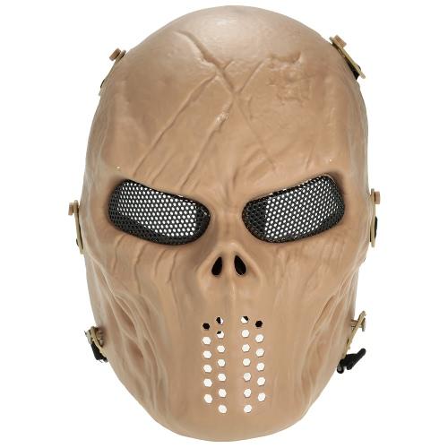 All'aperto Wargame tattico maschera intera Airsoft Paintball CS Esercito mascherina del partito di Halloween di protezione del lato Cosplay