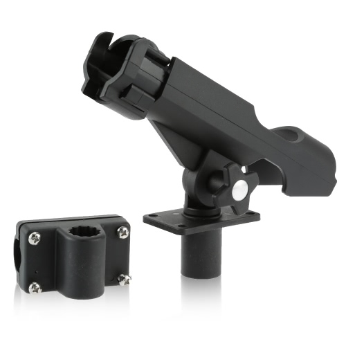 Adjustable Side Rail Installation or Directly Installed on Kayak & Boat Fishing Pole Rod Holder