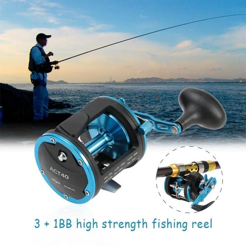 3 + 1BB rodamientos Metal mano derecha tambor rueda Baitcasting pesca carrete ACT20 / 30 / 40