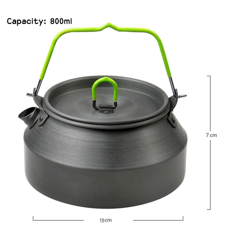 800ML Portable Ultra-light Outdoor Hiking Camping Picnic Water Kettle Teapot