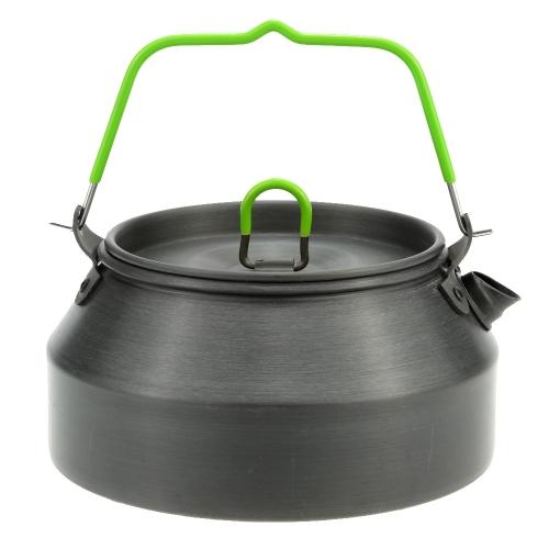 800ML tragbare Ultraleicht Outdoor Wandern Camping Picknick Wasser Wasserkocher Teekanne Kaffeekanne eloxierten Aluminium