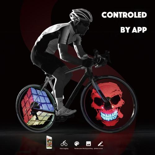 Colorido elegante inteligente de rueda de bicicleta de la bici habló la luz LED recargable luz de la bicicleta de concentradores de luz