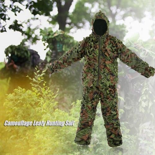 Камуфляж Листовые охотничий костюм куртка Брюки Bionic Воин маскировочный костюм для охоты Игры